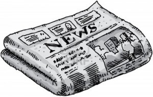 11431516-a-cartoon-newspaper-reporting-events